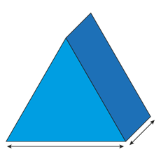Equilateral Triangle Foam Cut To Size