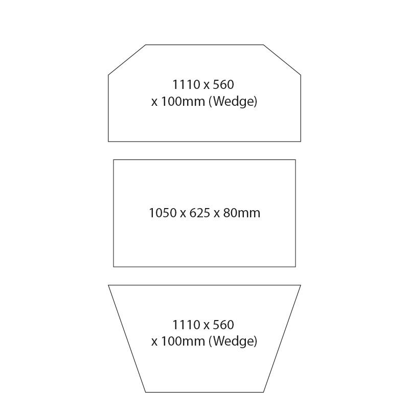T5 VW Transporter Foam Kit Bed Mattress