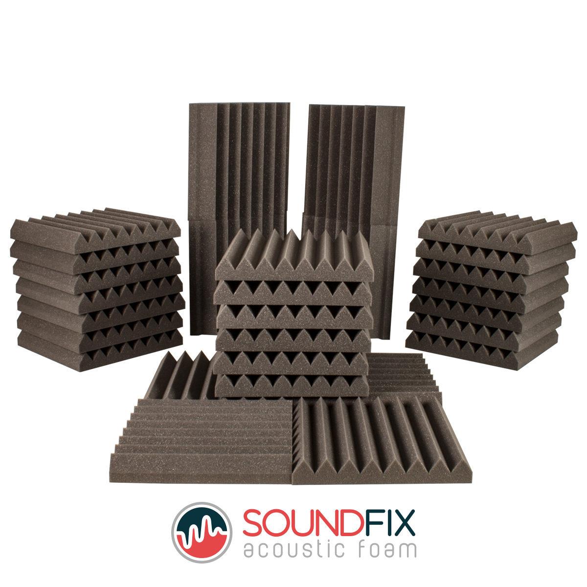 Acoustic Foam Tile & Bass Trap Kit