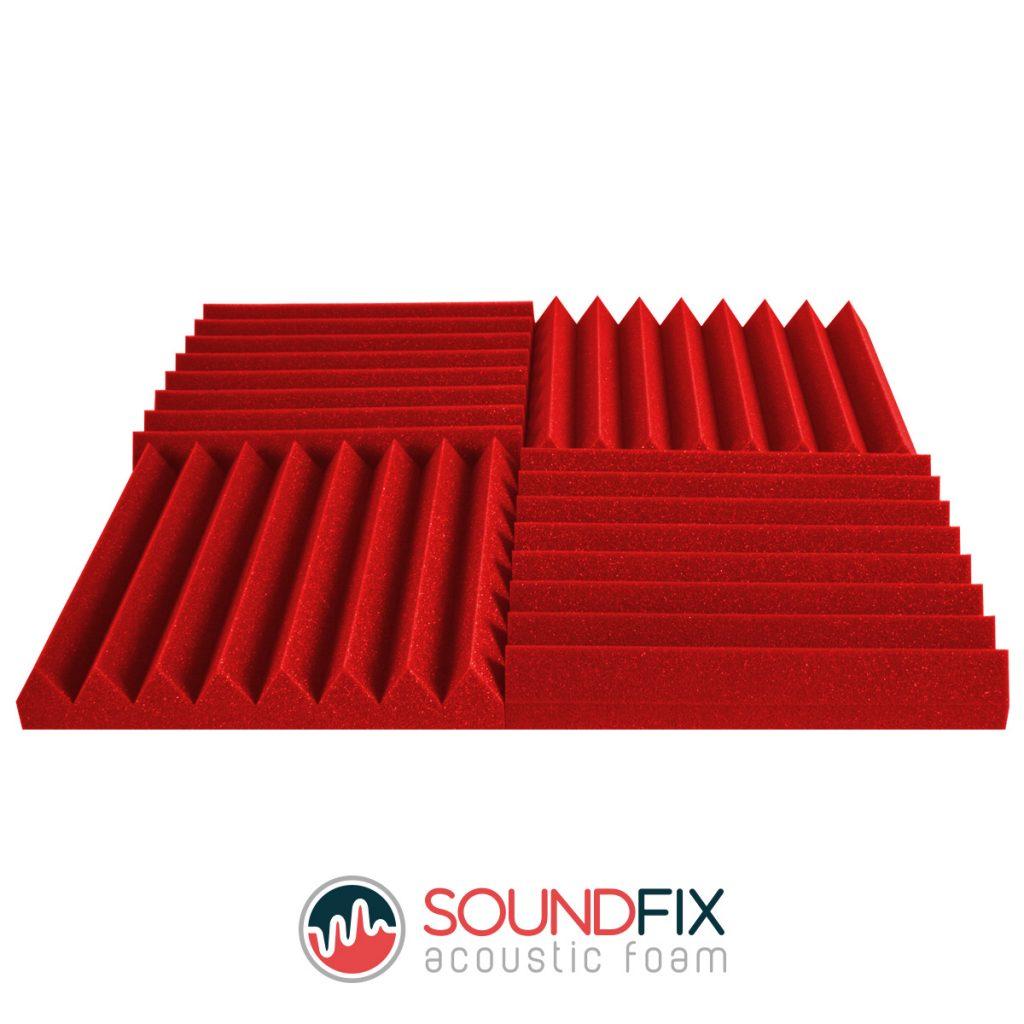 acoustic foam panels red