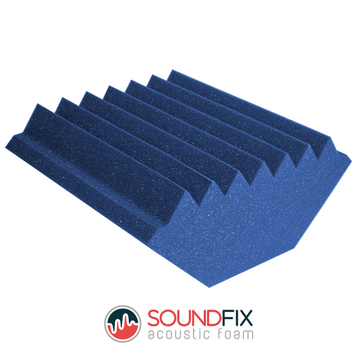 Blue Acoustic Foam Bass Traps