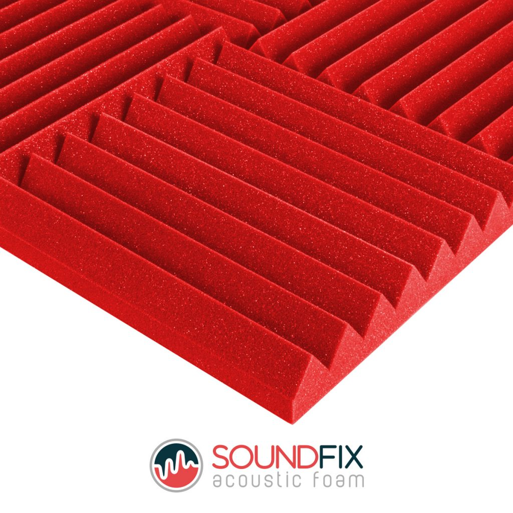 red acoustic control foam