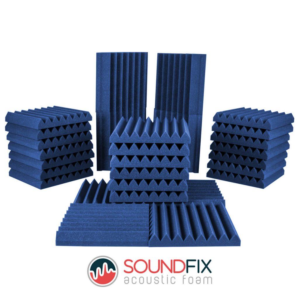 blue acoustic foam room kit