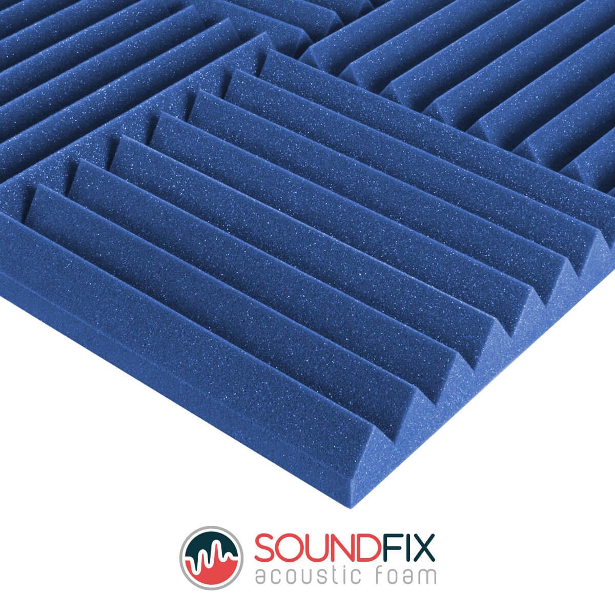 blue acoustic foam tiles room kit
