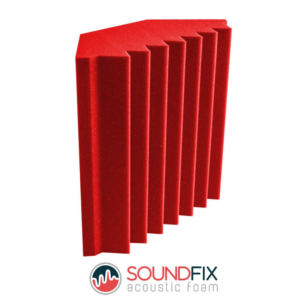 red acoustic foam bass trap room kit